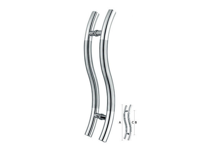 Hollow and Solid Stainless steel WOOd and Glass Door Handle SS201 SS304